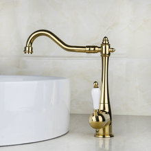 Одной ручкой золотой Готовые горячая/холодная вода кухня ванной кран 8485 К кухня Cozinha torneira умывальник, смеситель Коснитесь