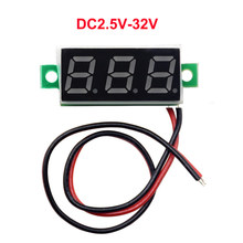 1PC 0.28 Inch Two Lines Mini Voltmeter DC2.5V-30V LED Display Voltage Meter Digital Display Voltmeter,FOUR COLOR OPTIONAL(China)