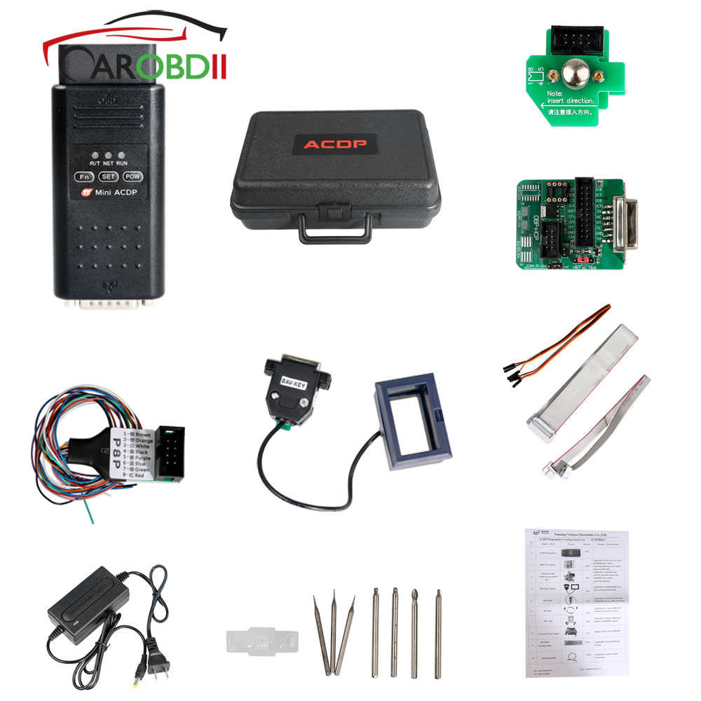 Yanhua мини ACDP мастер с Module1/2/3 для BMW CAS1 CAS4 + FEM/BDC/BMW DME это считыватель кода и записи