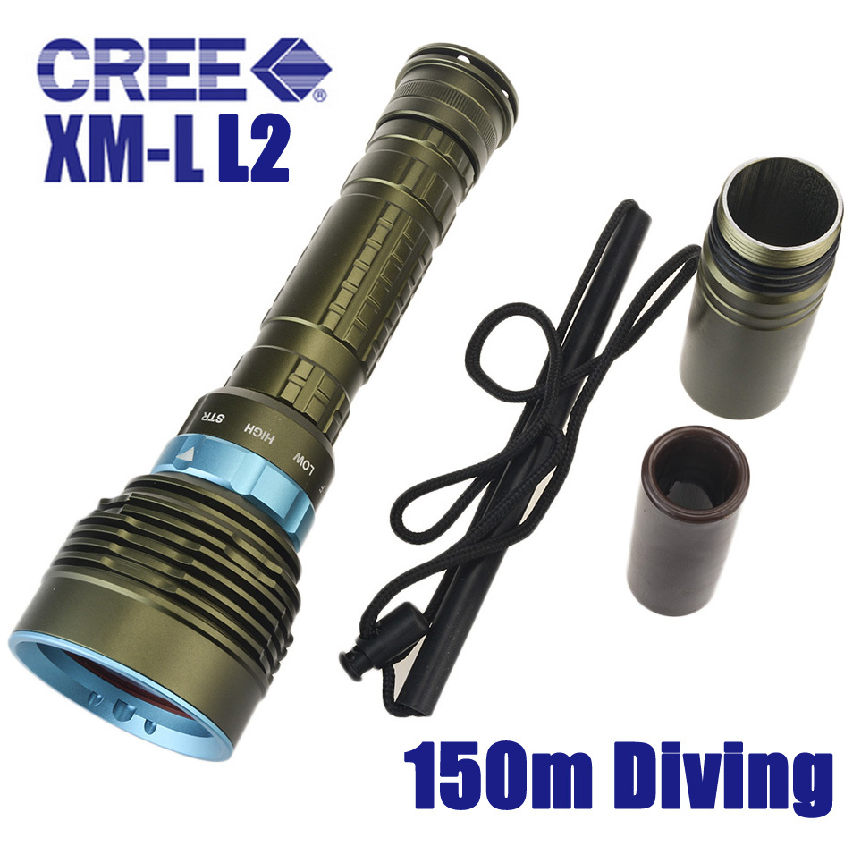 Skyray DX7 LED Diving Flashlight 7 x CREE XM-L L2 14000 Lumens 150m Underwater Scuba Diver Lanterna Torch Power By 18650 26650 100m scuba flashlights led diving flashlight underwater torch light diver cree xm l2 rechargeable waterproof 18650 or 26650