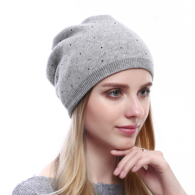 e5897c7697f QUEENFUR Winter Women Wool Knitted Beanies Hat Knitted Wool Beanies Hats  Skullies Casual Solid Colors Hat New Top Quality Caps