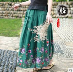 Women Skirts Linen High-End The Cotton Sand-Wash New-Products Loose Big-Yards Original-Design