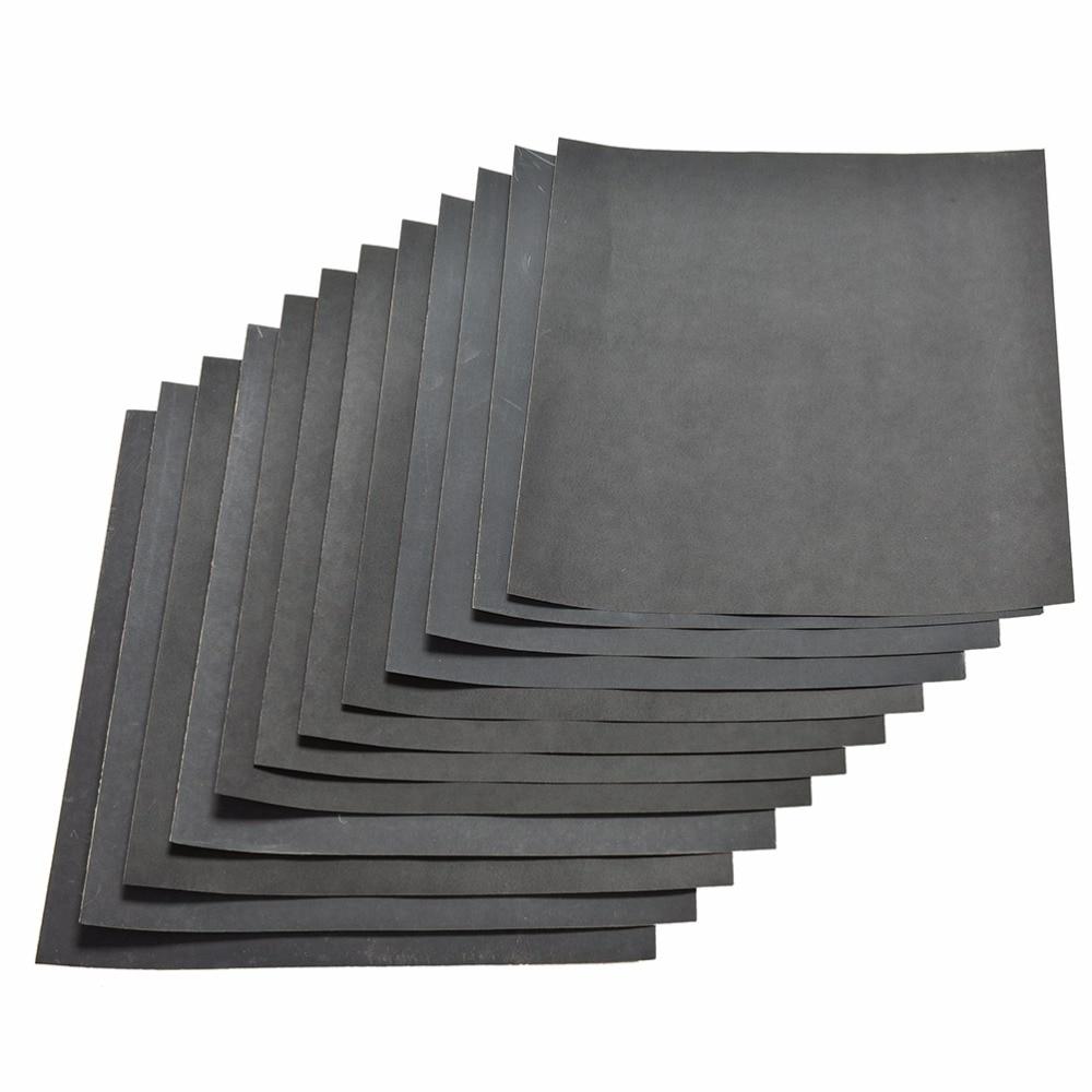 Fixmee 10 Pc/lot  Wet And Dry Paper Sandpaper Grade 280 - 2000 Grit Waterproof