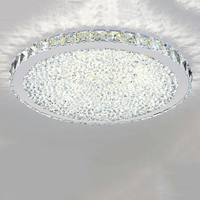 Free shipping Fashion Luxury round led crystal ceiling light Ultrathin 6cm for living room