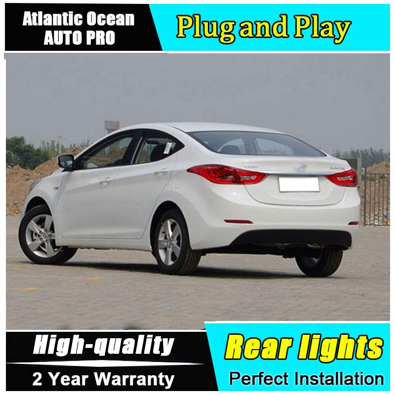 JGRT Car Styling for Hyundai Elantra Taillights 2011-2014 for Elantra MD Tail Lamp Rear Lamp Fog Light For 1Pair ,4PCS цена