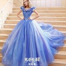 Платье Золушки из фильма, свадебное платье Золушки, голубое и белое платье, новые костюмы Золушки на Хэллоуин для женщин