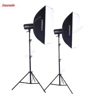 LED sun lamps Sunlight two video light set 100W softbox light stand photography children conference anchors fill light CD50 T10