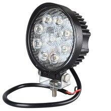 2 шт. 12 В 24 В 27 Вт светодиодный свет работы автомобиля бар мотоцикл лампы пятно светодиодный свет бар светодиодный автомобиля foglight для Off Road для Jeep Toyota