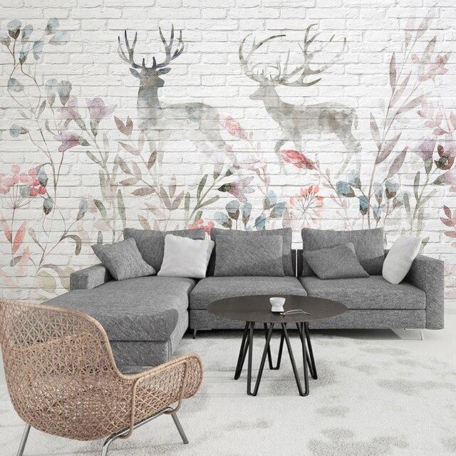 Custom 3d Mural White Brick Wall Wallpaper Living Room TV Sofa Bedroom Children Restaurant Backdrop