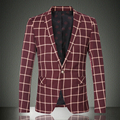 New Design Party Male Slim Casual Suit Jacket Single Breasted Full Sleeve Masculino Male Jacket Blazer Men 7122 - P120  Z10