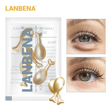LANBENA 24K Gold Peptide Wrinkles Eye Ampoule Capsule Serum Anti-Aging Fine Lines Dark Circle Patches Cream 5 Grain
