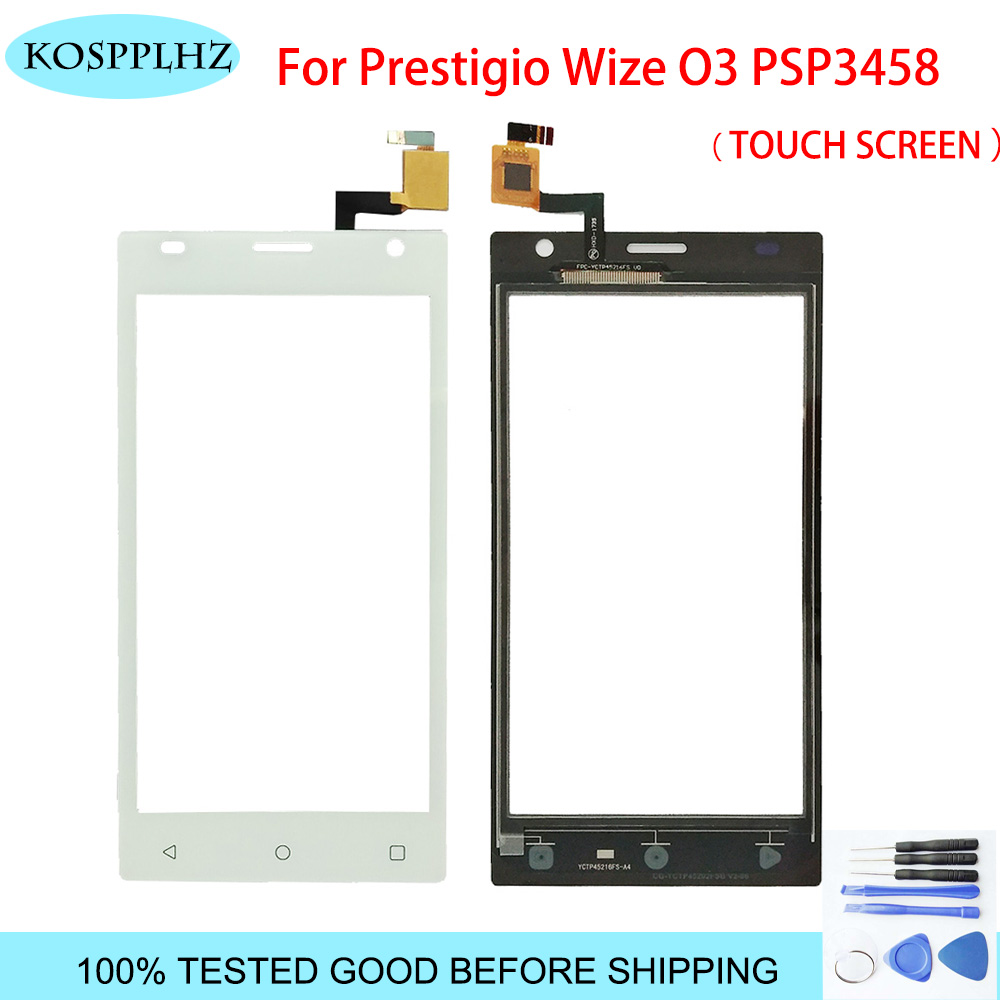 4.5 inch front outer glass For <font><b>Prestigio</b></font> Wize O3 PSP3458duo psp3458 psp <font><b>3458</b></font> duo Touch Screen Panel Lens Replacement + Tools image