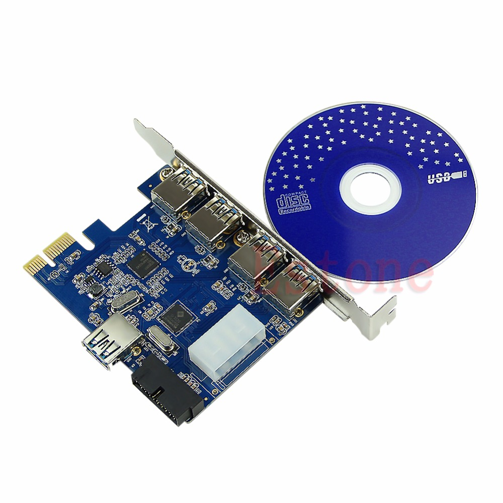 5 Ports PCI-E PCI Express Card to USB 3.0+19 Pin Connector 4 Pin Adapter For Win Feb65 Ports PCI-E PCI Express Card to USB 3.0+19 Pin Connector 4 Pin Adapter For Win Feb6