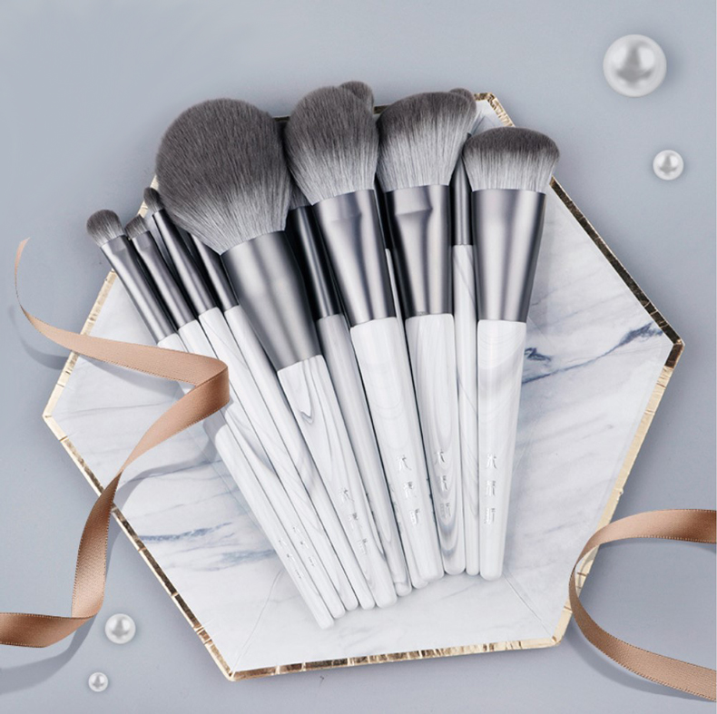 12pcs/set Grey Makeup brushes set Highlighter Buffing Blusher Powder contour Eye shadow detail Pro Make up tool