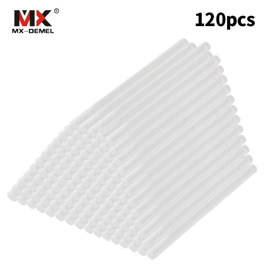 MX-DEMEL 120 Teile/los 7mm x 100mm Heißkleber Sticks Für elektrische Klebepistole Craft Album Repair Elektrowerkzeuge Für Legierung zubehör