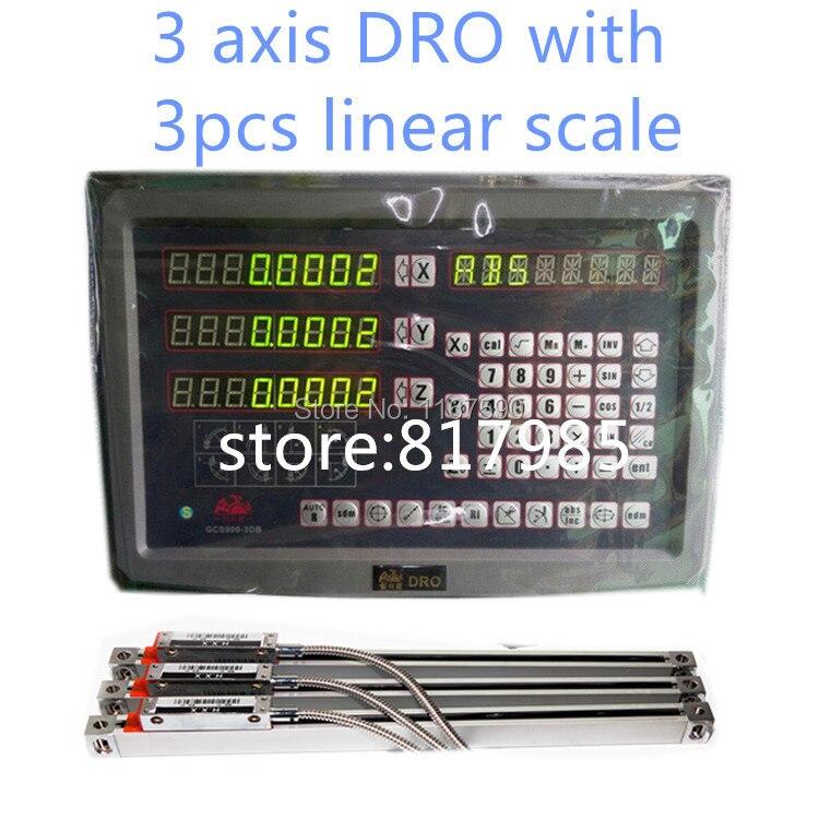 УЦИ 3 оси с цифровой индикацией и линейный весы/5um линейный энкодер 50 1000 мм УЦИ полный комплекты