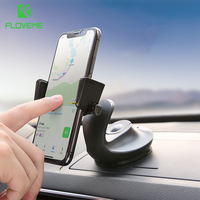 FLOVEME Car Phone Holder For Samsung Galaxy S9 S8 Note 8 Universal Car Holder Mobile Phone Stand For Huawei Mate 10 Lite iPhone