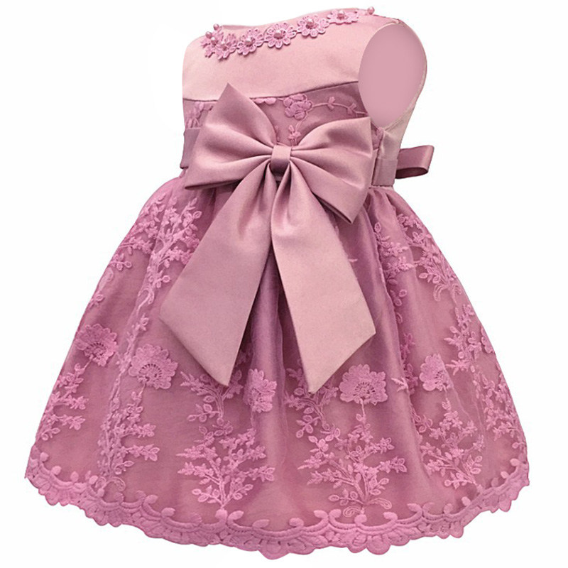 Girl   Baby's First Birthday Party Baby in Cotton Eucharist Princess Wedding Bridesmaid Butterfly Embroidery Party   Dress
