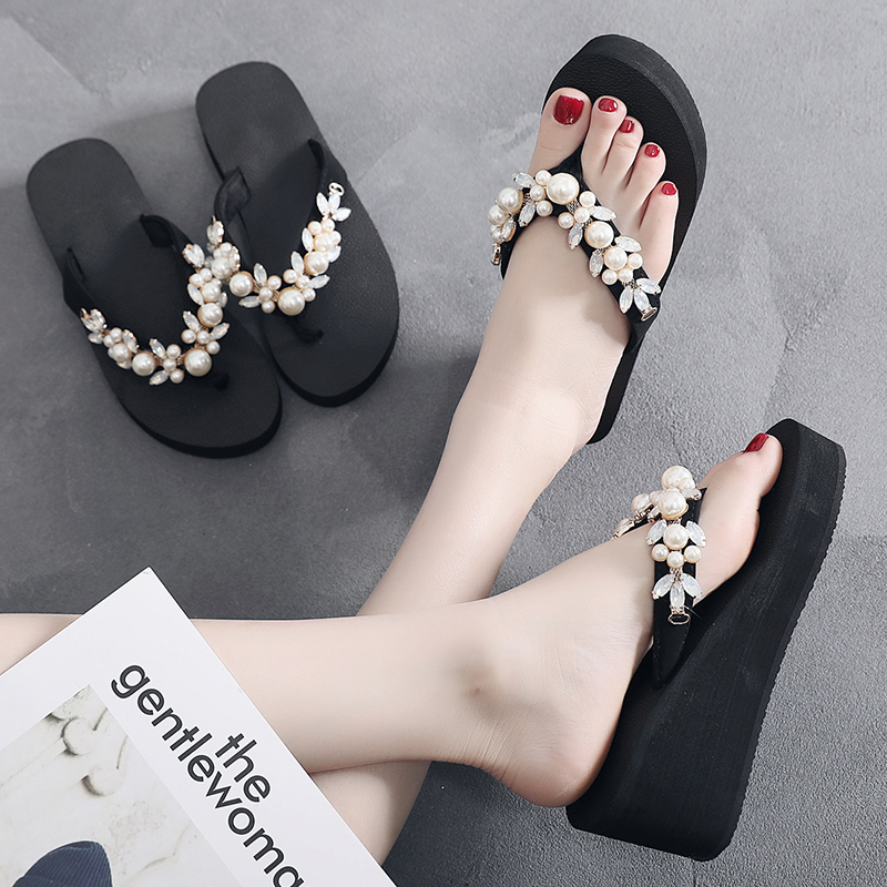 cc60572af41a Detail Feedback Questions about womens Flip Flops 6.5cm heel height Beach  Sandals Women s Slippers Female Flat Sandals design DIY personalization  HOLIDAY on ...
