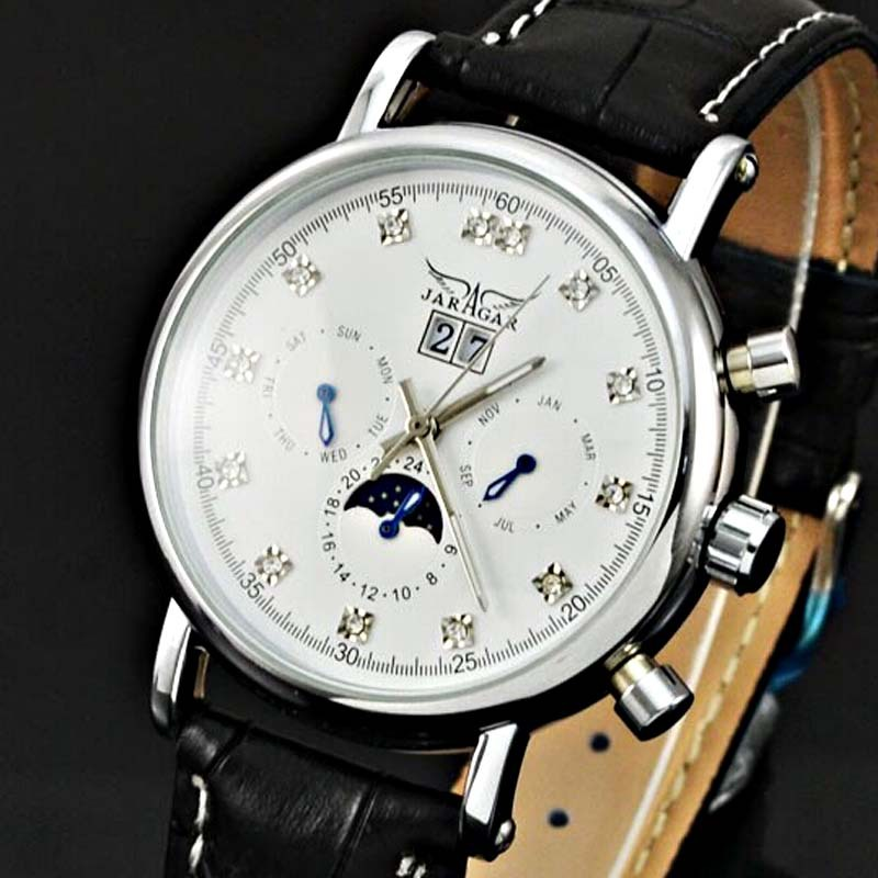 Aliexpress.com : Buy Moon Phase Mechanical Watch Jaragar ...