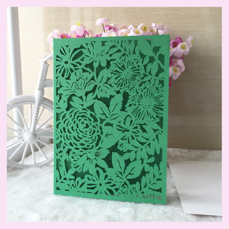 Compare prices on great birthday cards online shoppingbuy low 50 pcslot low price pearl paper high grade hollow out flower green invitation card bookmarktalkfo Gallery