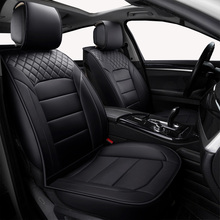 (Front + Rear) Universal leather car seat covers For Skoda Rapid Fabia Superb Octavia Yeti automobiles car accessories styling