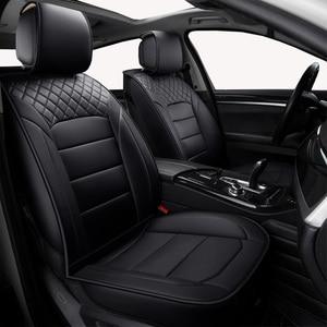 Image 1 - (Vorne + Hinten) universal leder auto sitzbezüge Für Skoda Schnelle Fabia Superb Octavia Yeti autos auto zubehör styling