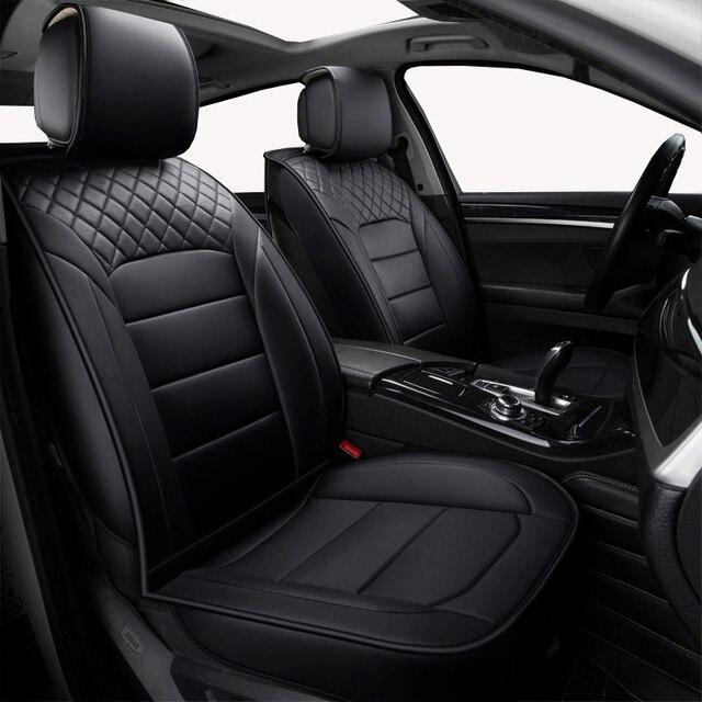 (Vorne + Hinten) universal leder auto sitzbezüge Für Skoda Schnelle Fabia Superb Octavia Yeti autos auto zubehör styling