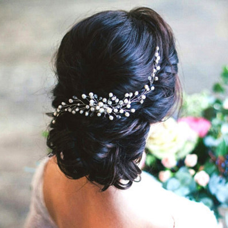 Bridal <font><b>Hair</b></font> Ornaments Fashion Hairwear <font><b>Wedding</b></font> <font><b>Hair</b></font> <font><b>Accessories</b></font> Comb <font><b>for</b></font> <font><b>Hair</b></font> Women Girl <font><b>Headpiece</b></font> Headdress Head Decoration Pin image