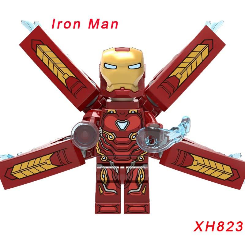 XH823 Iran Man Custom Armored Iron Man Suit Doctor Strange Mark 39 Star Wars Action Figure Building Blocks Children Toys