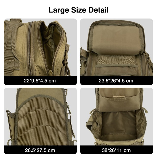 Piscifun Fishing Tackle Bag Waterproof Nylon 2 Sizes Single Shoulder Backpack Hand Chest Bag