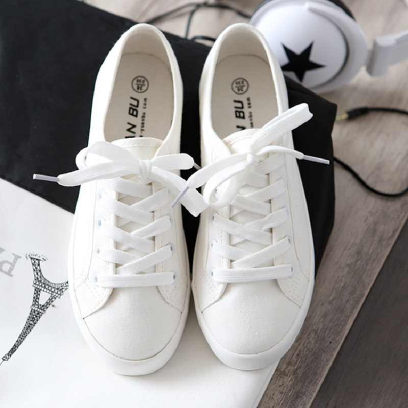 a85967db381 Star Style Canvas Sneakers Women Casual Shoes White Sneakers Women  Vulcanized Shoes Lace Up Flat Trainers