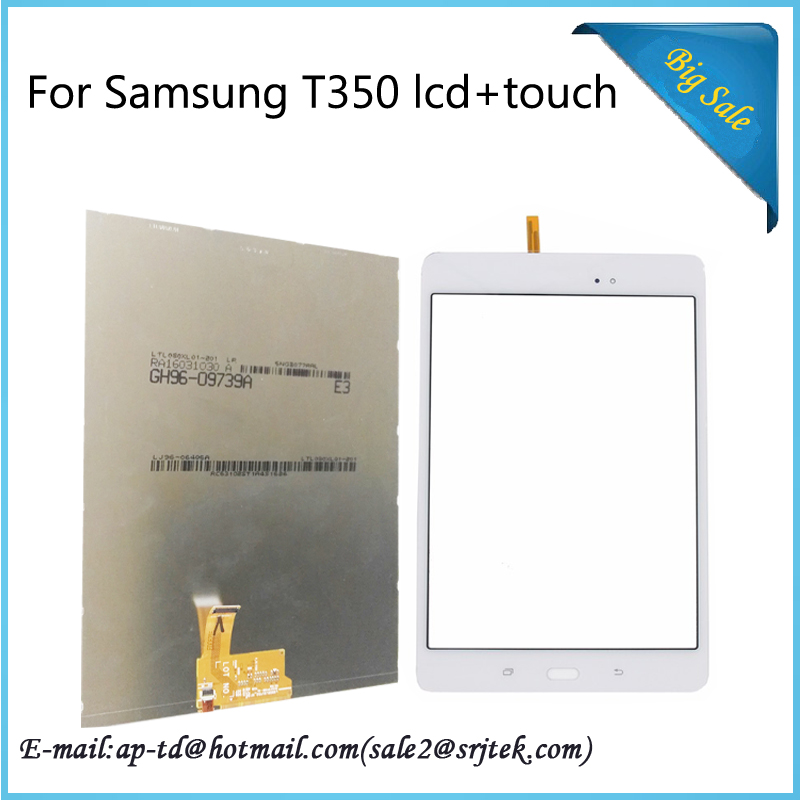 ФОТО Wholesale 8'' For Samsung Galaxy Tab A 8.0 T350 LCD Display with Touch Screen Digitizer Sensor Replacement Parts Tablet Pc