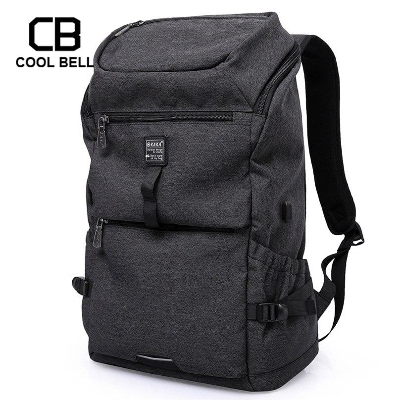 Grande capacité USB charge hommes sac à dos ordinateur décontracté étanche voyage sac à dos hommes école de sport pour les sacs adolescents