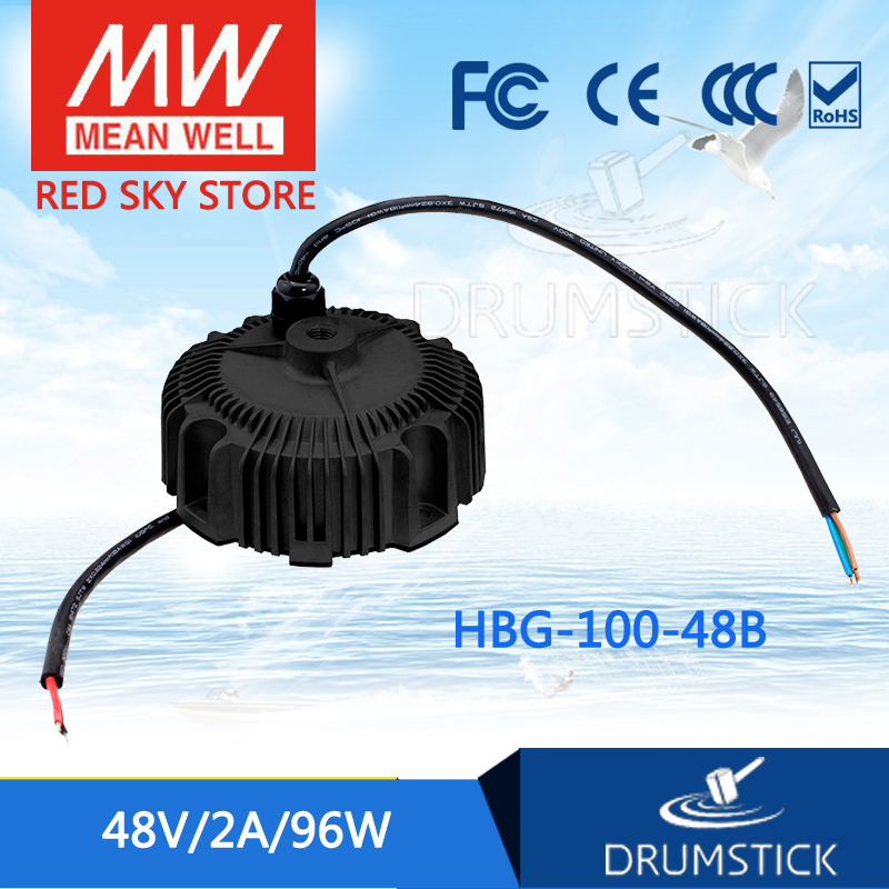 Hot sale MEAN WELL HBG-100-48B 48V 2A meanwell HBG-100 48V 96W Single Output LED Driver Power Supply [powernex] mean well original hbg 100 24 24v 4a meanwell hbg 100 24v 96w single output led driver power supply