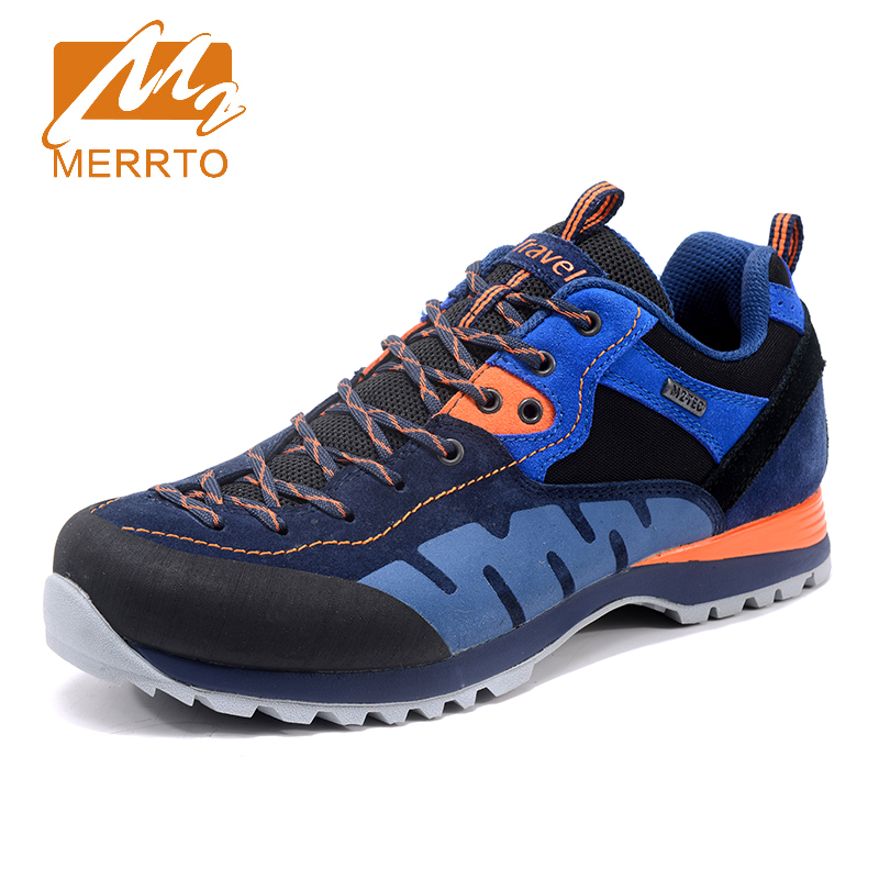 2017 Merrto Mens Outdoor Walking Shoes Breathable Climbing Sports Shoes Non-slip Travel Shoes For Men Free Shipping MT18699 2017 mens hiking shoes breathable rock climbing camping outdoor sports shoes for men army green black free shipping c101