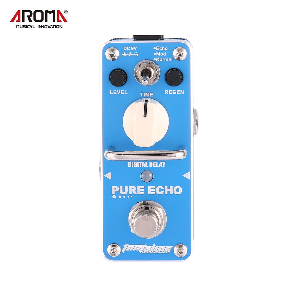 Aroma APE-3 Pure Echo Digital Delay Electric Guitar Equalizer Mini Guitar Effect Pedal True Bypass Single Guitar Accessories amo 3 mario bit crusher electric guitar effect pedal aroma mini digital pedals full metal shell with true bypass