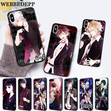 WEBBEDEPP Diabolik Lovers Japan Anime Silicone soft Case for iPhone 5 SE 5S 6 6S Plus 7 8 11 Pro X XS Max XR