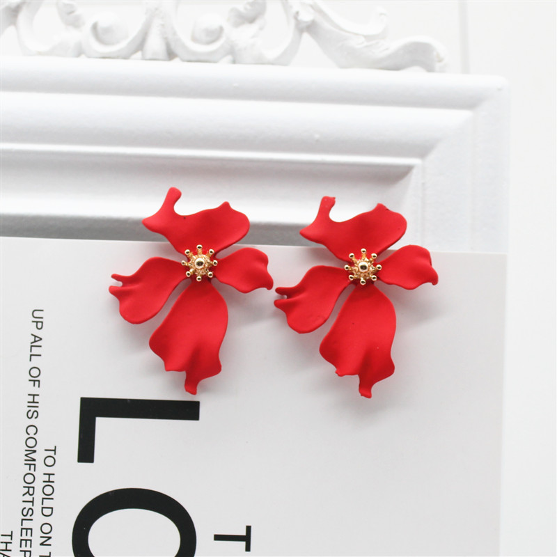 2019 New Design Fashion Jewelry Elegant big Flower Earrings Summer Style Beach Party Statement earring for Girls gift for woman