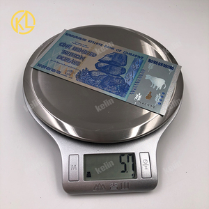 Image 5 - Hot Sale 1000 Pieces Colorful Sivler/Gold Foil Banknote Zimbabwe Silver Banknote With Wood Box For Token fake Money