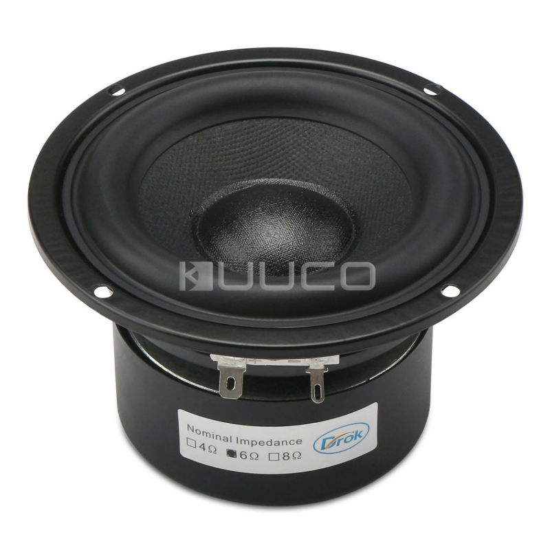 40W Loudspeaker 4-inch 6 ohms Audio Speaker Hi-Fi Subwoofer Speaker Bass Antimagnetic Speaker for DIY speakers аксессуар philips scart rca s video swv2562w 10