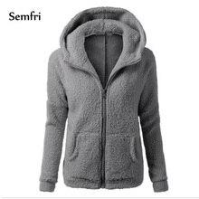 Semfri Women Fashion Loose Cotton Coats Solid Elegant Jacket Plus Size 5xl Casual Soft Fleece Outwear Clothing 2019