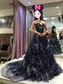Haute Couture Звезда Картины Шнурка A-Line Платья Знаменитостей Известный Дизайн 17MYED044 MYEDRESSHOUSE