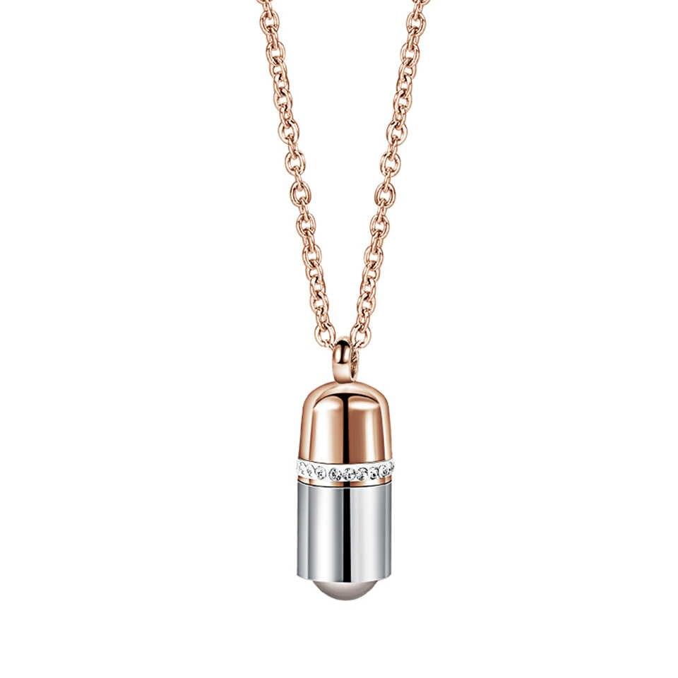 100 языков I love you проекционный кулон-капсула ожерелье из титанистой стали Модные женские ювелирные изделия подарок на день Святого Валентина