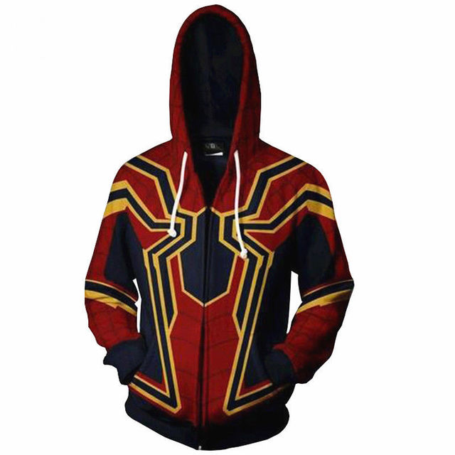 The Avengers 3 Superhero Hoodie Spiderman Venom Iron Man Captain America  Thin Hoodies Iron Spider-man Casual Zipper Coat Outfit 67a9679027