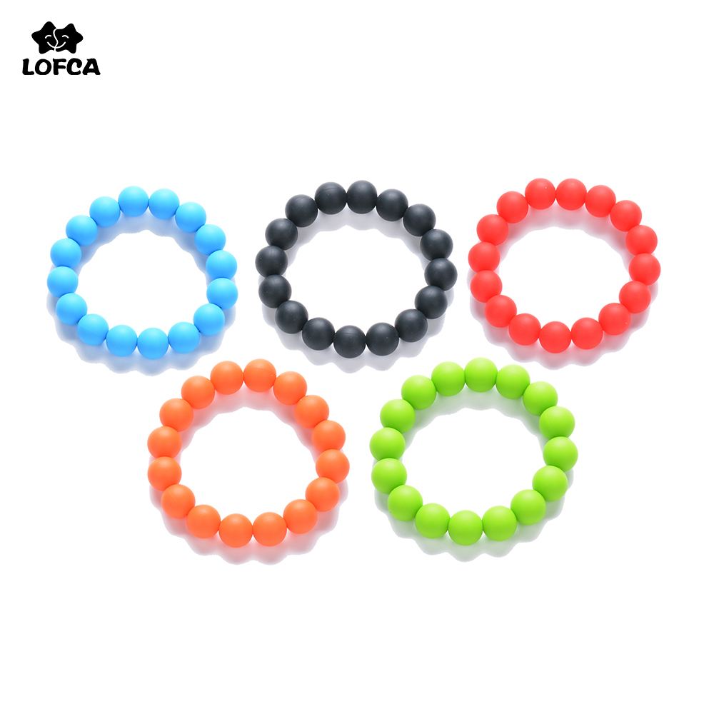 Hot Fashion Silicone Teething Bracelet Baby Teether BPA Free Safety Silicone Jewelry Toys For Teeth Chewable Silicone beads ...