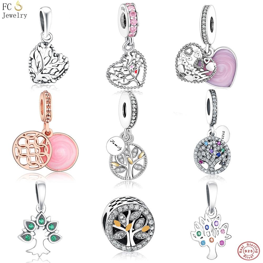 78e830064 ... best fc jewelry fit pandora charms bracelet 925 sterling silver family  enamel tree of life mix