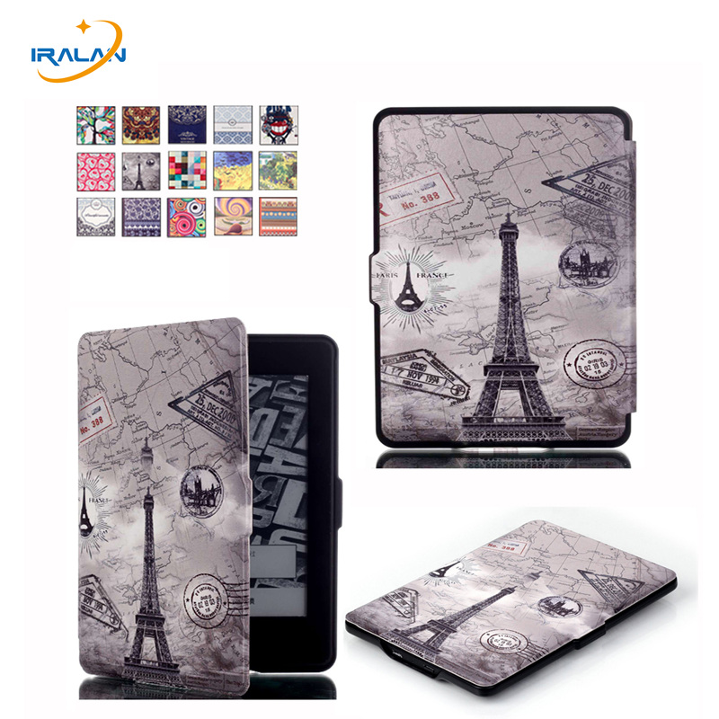 Ultra Slim Printed Case for Amazon Kindle Paperwhite 1 2 3 PU Leather smart cover for Kindle 958 6th generation E-BOOK+Film+pen high quality cross pattern ultra slim folio leather case flip wake up sleep smart cover for amazon kindle paperwhite 1 2 3 6