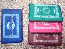 24 pçs/lote Viagem tamanho protable bolso de seda muçulmano tapete de oração