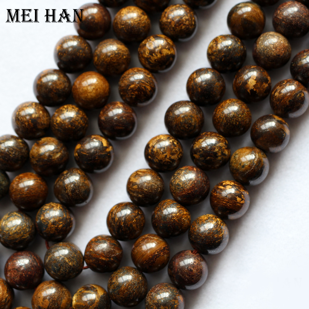 Loose-Beads Jewelry-Making-Design Round Bronzite Natural 6mm 10mm Meihan 8mm for Gift